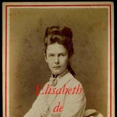 Fotografía antigua: ELISABETH PRINCESA DE PRUSIA - 1880 - FOTOGRAFIA HEINR GRAF. - BERLIN . Lote 67179669