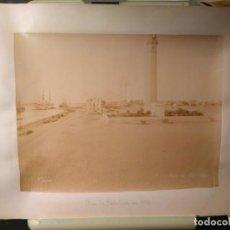 Fotografía antigua: FOTOGRAFÍA ANTIGUA DEL FARO DE PORT SAID C 1890 DE ZANGAKI SOBRE HOJA DE ALBUM.. Lote 67253433