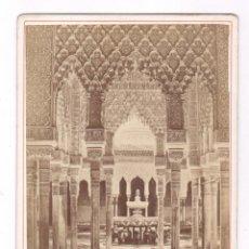 Fotografía antigua: LA ALHAMBRA, GRANADA, FOTO: LAURENT, MADRID. 11X16,5 CM. Lote 67377229