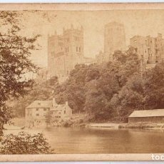Fotografía antigua: DURHAM, FROM THE OLD MILL INGLATERRA FOTO T. HEAVISIDE ALBÚMINA 10,5X6,5. Lote 67535509