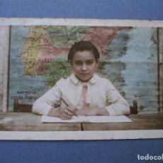 Fotografía antigua: FOTO ESCOLAR,RECUERDO DEL COLEGIO, AÑOS 50 APROX). Lote 68080373