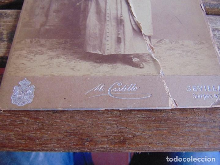 Fotografía antigua: FOTO FOTOGRAFIA M CASTILLO ALBUMINA DE LA SEMANA SANTA DE SEVILLA FINALES SIGLO XIX NAZARENO ROTO - Foto 6 - 68085705