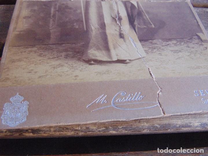 Fotografía antigua: FOTO FOTOGRAFIA M CASTILLO ALBUMINA DE LA SEMANA SANTA DE SEVILLA FINALES SIGLO XIX NAZARENO ROTO - Foto 5 - 68085709