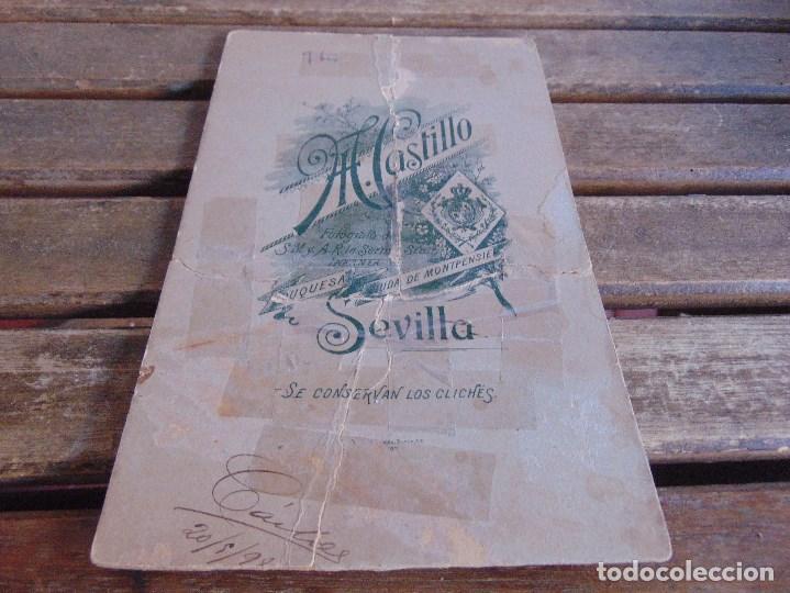 Fotografía antigua: FOTO FOTOGRAFIA M CASTILLO ALBUMINA DE LA SEMANA SANTA DE SEVILLA FINALES SIGLO XIX NAZARENO ROTO - Foto 9 - 68085709