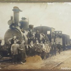 Fotografía antigua: FO-042. FOTOGRAFIA. TRABAJADORES DEL FERROCARRIL. ALBUMINA. SIGLO XIX. . Lote 68637849