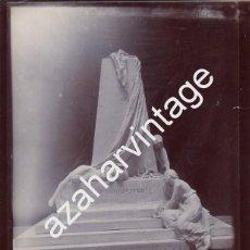 Fotografía antigua: ESPECTACULAR ALBUMINA, MONUMENTO A CAMPOAMOR, RARISIMA,198X250MM. Lote 68677677