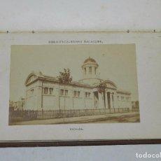 Fotografía antigua: (MF2) LIBRO FUNDACION DE LA BIBLIOTECA MUSEO DE VILLANUEVA Y GELTRU , BARCELONA 1883, 2 ALBUMINAS. Lote 69385241
