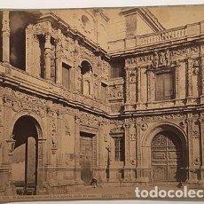 Fotografía antigua: J. LAURENT Y CIA : SEVILLA Nº257.- EL AYUNTAMIENTO, PARTE LATERAL DE LA IZQUIERDA... (ALBÚMINA 35X26. Lote 69565669