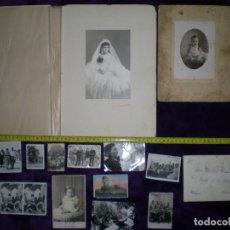 Fotografía antigua: LOTE DE FOTOS ANTIGUAS DIFERENTES MEDIDAS Y ÉPOCAS FAMILIAS MILITARES ALGUNAS DEDICADAS Y FECHADAS. Lote 70409401