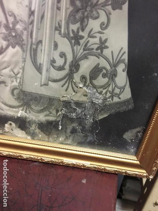 Marco con gran foto religiosa de virgen milagro comprar - Marco foto antigua ...