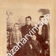Fotografía antigua: ALBUMINA COSTUMBRISTA SIGLO XIX, 155X218MM. Lote 71932711