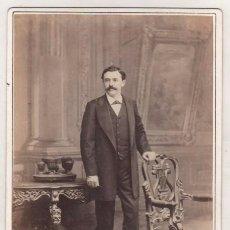 Fotografía antigua: CABALLERO DE LA ALTA SOCIEDAD. FOTÓGRAFO A COHNER. HABANA CUBA.. Lote 73031615
