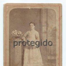 Fotografía antigua: RETRATO. CONCHA RUBIO NAVARRO. FOTÓGRAFO VALERO HERMANOS. CARTAGENA, MURCIA. SIGLO XIX.. Lote 73428735
