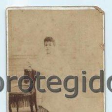 Fotografía antigua: NIÑA. PRIMERA COMUNIÓN. FOTÓGRAFOS J. DE HARO HERMANOS. CARMEN, 62. CARTAGENA, MURCIA.. Lote 73464147