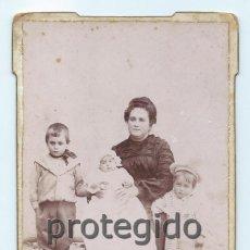 Fotografía antigua: RETRATO FAMILIAR. FOTÓGRAFOS HARO HERMANOS. CARTAGENA, MURCIA.. Lote 73522251