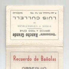 Fotografía antigua: PAQUETE ACORDEON DE FOTOS DE BAÑOLAS PUBLICIDAD RESTAURANTE RANCHO GRANDE.. Lote 73565479