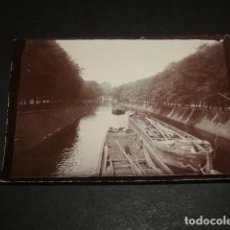 Fotografía antigua: BERLIN ALEMANIA UN CANAL FOTOGRAFIA HACIA 1895. Lote 73774807