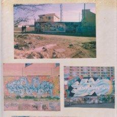 Fotografía antigua: LOTE 4 FOTOS GRAFFITI CALLEJERO VALENCIA AÑOS 90. Lote 74481927