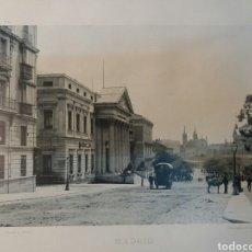 Fotografía antigua: FOTO ANTIGUA. 25X32 CARRERA DE SAN JERÓNIMO. MADRID.1900. Lote 74749706