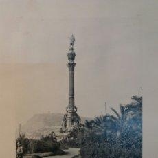 Fotografía antigua: FOTO ANTIGUA. 25 X 32 BARCELONA. COLON 1900. Lote 74750547
