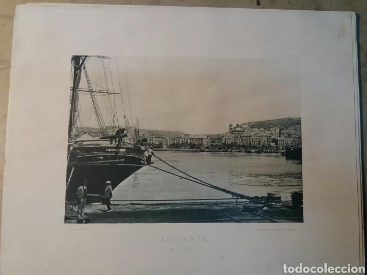 FOTO ANTIGUA. 25X32 ALICANTE. PUERTO 1900 (Fotografía Antigua - Albúmina)