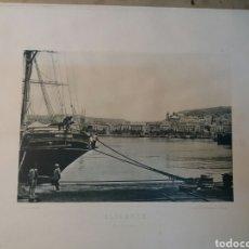 Fotografía antigua: FOTO ANTIGUA. 25X32 ALICANTE. PUERTO 1900. Lote 74750807