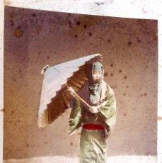 Fotografía antigua - GEISHA - JAPÓN - ALBUMINA COLOREADA A MANO - 74937583