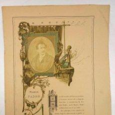 Fotografía antigua: RAMÓN PADRÓ I PEDRET ( 1845-1915) ESCULTOR CATALÁN. ALBUMINA SOBRE PAPEL. Lote 76061727