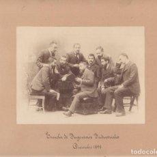 Fotografía antigua: ESCUELA INGENIEROS INDUSTRIALES, 1898. BARCELONA PROBABLEMENTE. ALBÚMINA 18X23CM. SOPORTE: 31X37CM. Lote 76068819