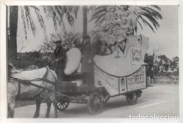 FOTO. REPRODUCCIÓN. CARNAVAL DE CÁDIZ, AÑOS 20. CORO 1º PREMIO, PARQUE GENOVÉS. A-C-1849,9 (Fotografía Antigua - Albúmina)