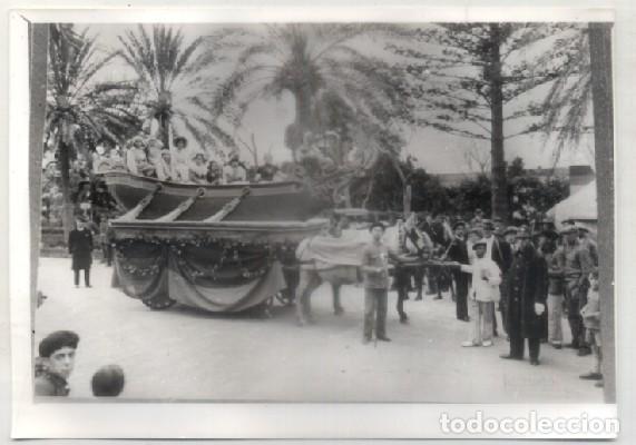 FOTO. REPRODUCCIÓN. CARNAVAL DE CÁDIZ, AÑOS 20. CARROZA BARCA. PARQUE GENOVÉS. A-C-1850,9 (Fotografía Antigua - Albúmina)