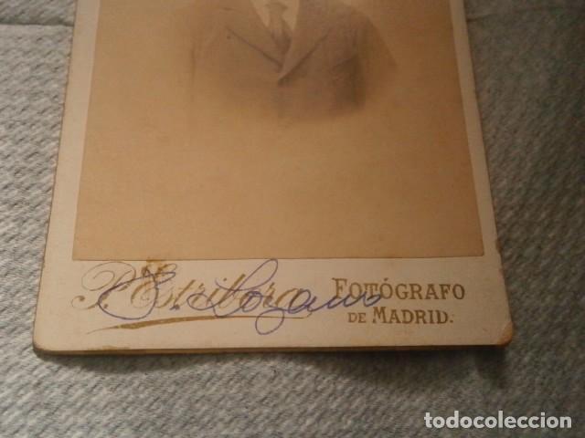 Fotografía antigua: antigua fotografia fotgrafo de madrid 12,5 x 8 cmts - Foto 2 - 76749227