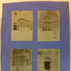 Fotografía antigua: TARRAGONA. PUERTAS DE LA CATEDRAL. 4 FOTOGRAFÍAS. AÑO 1904.. Lote 77148173
