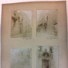 Fotografía antigua: BARCELONA. ANTIGUA FACHADA DE SAN MIGUEL HOY EN LA IGLESIA DE LA MERCED, CALLE DE LA PIEDAD. 1904.. Lote 77153697