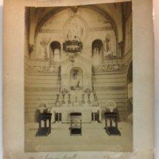 Fotografía antigua: RIPOLL. ALTRAR DE SANT JOAQUIM. SIGLO XIX. 22 X 16 CM.. Lote 77157317