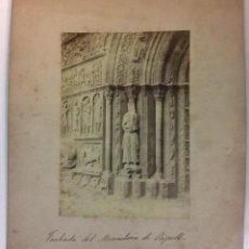 Fotografia antica: RIPOLL. FACHADA DEL MONASTERIO. SIGLO XIX. 17 X 12 CM.. Lote 77159585