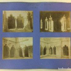 Fotografía antigua: BARCELONA. SAN PABLO DEL CAMPO. CLAUSTROS. SANT PAU DEL CAMP. 4 FOTOGRAFÍAS. AÑO 1904.. Lote 77229249