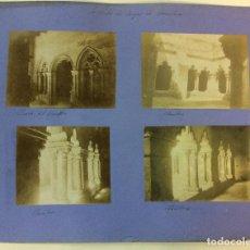 Fotografía antigua: BARCELONA. SAN PABLO DEL CAMPO. CLAUSTROS. SANT PAU DEL CAMP. 4 FOTOGRAFÍAS. AÑO 1904.. Lote 77229357