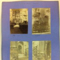 Fotografía antigua: BARCELONA. NUESTRA SEÑORA DE LAS MERCEDES. ALTAR MAYOR, PULPITO, ESCALERA. 4 FOTOGRAFÍAS. AÑO 1904.. Lote 77229581