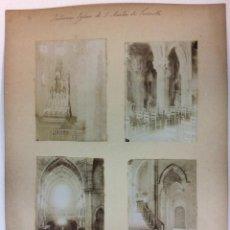 Fotografía antigua: INTERIOR IGLESIA DE SAN MARTIN DE TORROELLA. 4 FOTOGRAFÍAS. AÑO 1904.. Lote 77229977