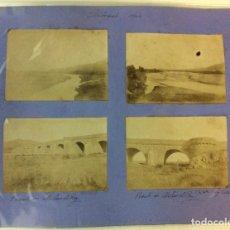 Fotografía antigua: MOLINS DE REI. LLOBREGAT Y PUENTE. 4 FOTOGRAFÍAS. AÑO 1904.. Lote 77230253