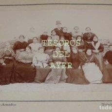 Fotografía antigua: FOTOGRAFIA ALBUMINA DE CIGARRERAS DE LA FABRICA DE TABACOS DE MADRID, SIGLO XIX, AMBULANCIA AMADOR,. Lote 77299413