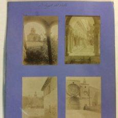 Fotografía antigua: SANT CUGAT DEL VALLES. MONASTERIO, CLAUSTROS. 4 FOTOGRAFÍAS. AÑO 1904.. Lote 77734137