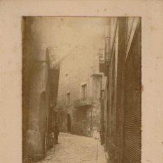 Fotografía antigua: FOTO ALBÚMINA. CRUCE DE CALLE TEMPLARIOS ESQUINA ATAULFO. 1897. BARCELONA. AUTOR DESCONOCIDO. Lote 77813905