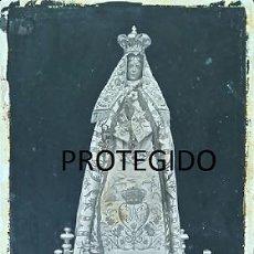 Fotografía antigua: ANTIGUA FOTOGRAFIA DE LA VIRGEN DE LOS ANGELES DE GRIJOTA PALENCIA. Lote 78369237