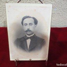 Fotografía antigua: FOTOGRAFÍA RETRATO DE CABALLERO FIRMADA POR ESPLUGAS. Lote 78533025