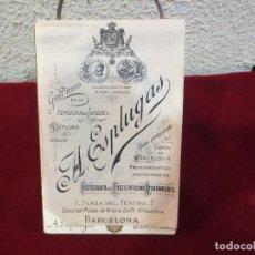 Fotografía antigua: FOTOGRAFÍA DE A. ESPLUGAS DE MATRIMONIO. Lote 78586481