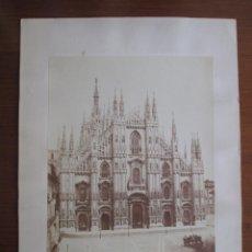 Fotografía antigua: DEROCHE & HEYLAND. MILAN. CATEDRAL. CIRCA 1870. PERFECTO ESTADO. Lote 79108093