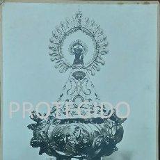 Fotografía antigua: IMAGEN DE NUESTRA SEÑORA DE SANCHO ABARCA VENERADA EN SU IGLESIA PARROQUIAL DE TAUSTE ZARAGOZA. Lote 79570057