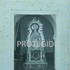 Fotografía antigua: ANTIGUA FOTOGRAFIA DE LA PURISIMA CONCEPCIÓN QUE SE VENERA EN PRUNA SEVILLA. Lote 79571325
